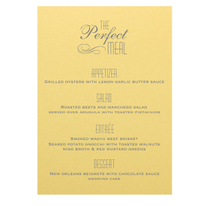 Perfect Flourish Menu