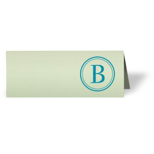 Initial Graphic Place Card