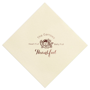 Heart Full Thankful Linen Napkin