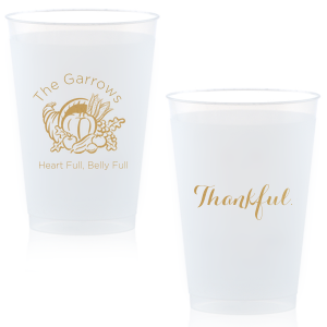 Heart Full Thankful Frost Flex Cup