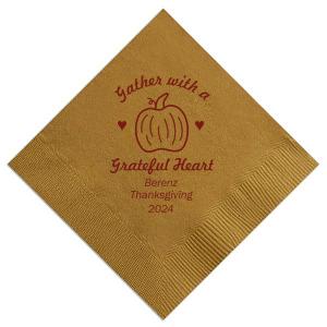 Thankful Heart Napkin