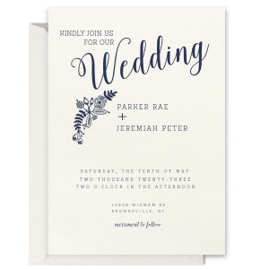 Backyard Wedding Invitation