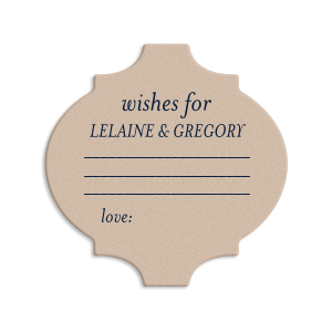 Wishes for Bride and Groom Coaster