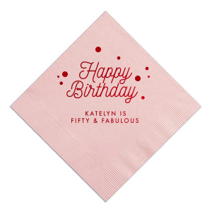 Happy Birthday Confetti Napkin