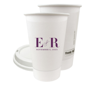 Pretty Monogram Paper Cup