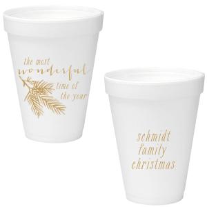 Pine Christmas Foam Cup