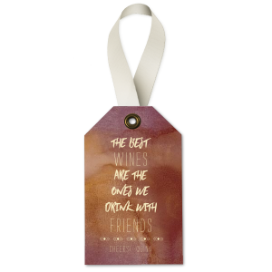 Drink With Friends Wine Tag