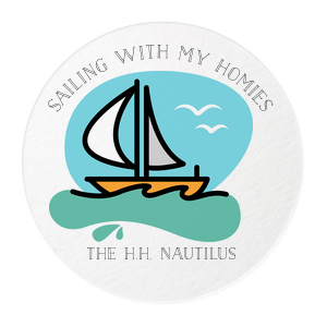 Sailing With My Homies Photo/Full Color Coasters