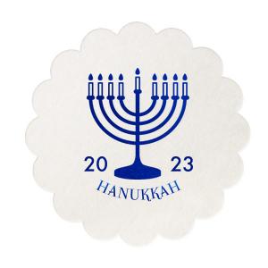 Menorah Hanukkah Coaster