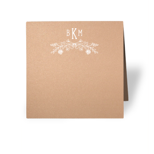Rose Laurel Monogram Place Card