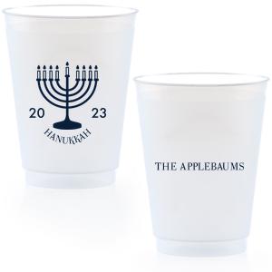 Menorah Hanukkah Cup