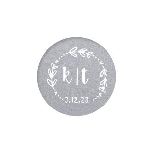 Date Wreath Label