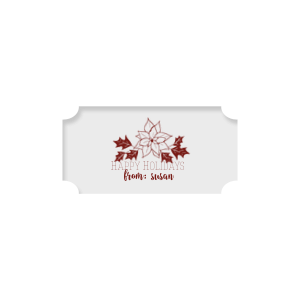 Poinsettia Label