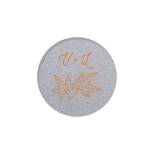 Leaf Initials Label