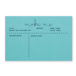 Make Me Recipe Card