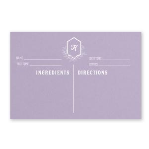 Leaf Crest Recipe Card