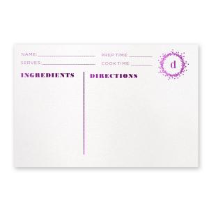Confetti Frame Recipe Card
