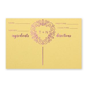 Linear Botanical Recipe Card