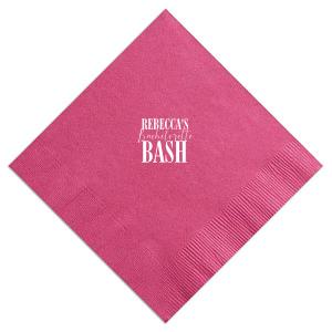 Bachelorette Bash Napkin
