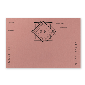 Deco Recipe Card