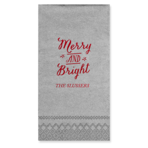 Merry and Bright Napkin