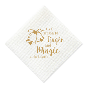 Jingle and Mingle Linen Like Napkin