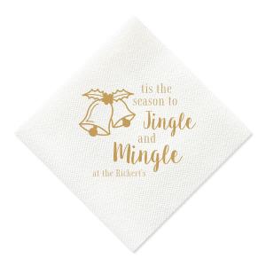 Jingle and Mingle Linen Like Napkin