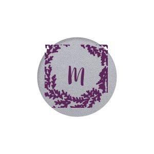 Wreath Single Initial Label