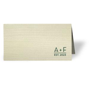 Date Est Place Card