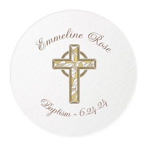 Gold Cross Photo/Full Color Coasters