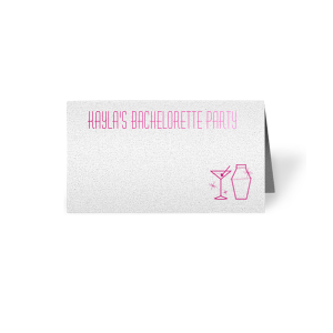 Bachelorette Place Card