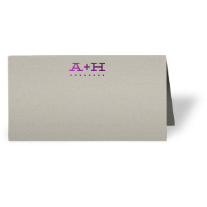 Initial Dots Place Card