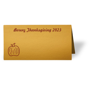 Pumpkin Place Card
