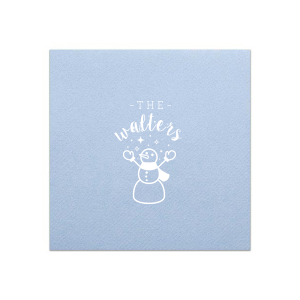 Snowman Stars Napkin