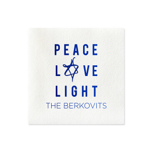Peace Love Light Napkin