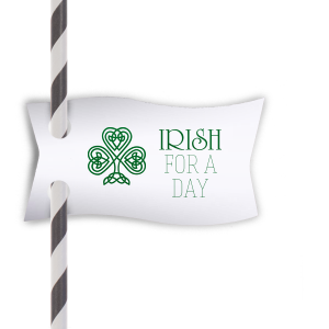 Irish For A Day Straw Tag