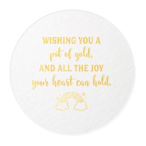 Wishing a Pot of Gold Coaster
