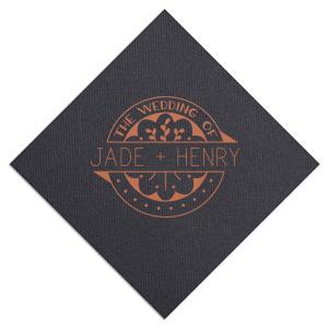 Wedding of Badge Napkin