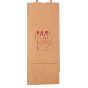 Holiday Survival Kit Wine Bag
