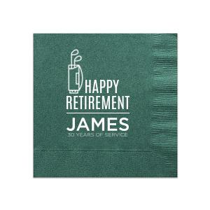 Retirement Golf Napkin