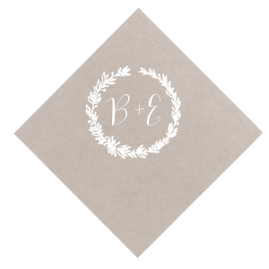 Pretty Initials Wreath Napkin