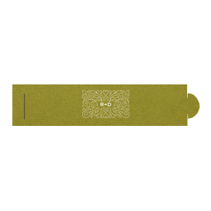 Linear Floral Frame Napkin Ring
