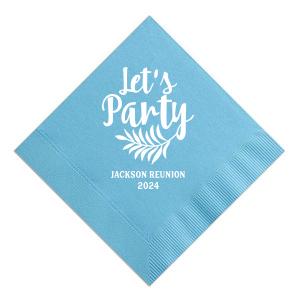 Let's Party Reunion Napkin