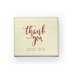 Thank You Script Cake Box