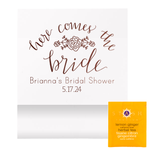 Here Comes the Bride Tea Favor