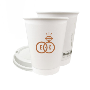 Diamond Ring Initials Paper Cup