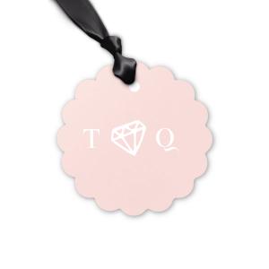 Diamond Initials Tag