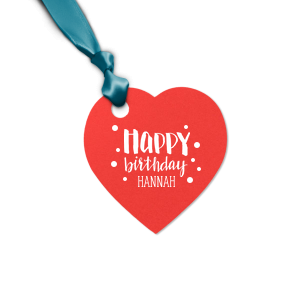 Hand Lettered Happy Birthday Tag