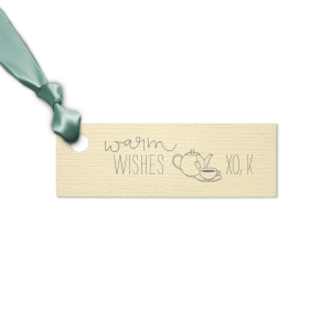 Warm Wishes Tea Tag