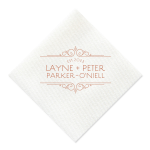 Vintage Deco Wedding Napkin